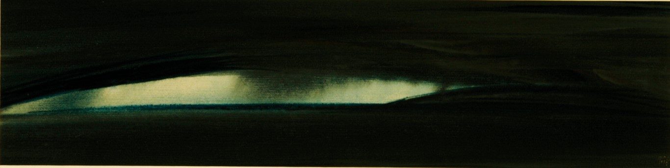 """Der weiße Keil"", 2010, Aquarell, 20 x 70 cm"