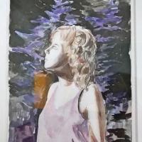 Amelie von Wulfen, Aquarell