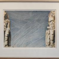 "Mel Ramos, ""Memnon"", 1980, Watercolor on paper, 45,8 x 66 cm"