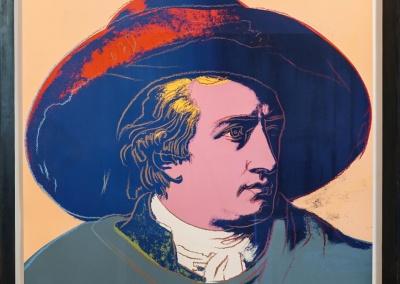 "Andy Warhol, ""Goethe"", 1982, Siebdruck, 96,5 x 96,5 cm, Aufl. 100 Ex."