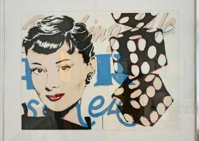 """Heiner Meyer, """"Audrey"""", Lithographie, 60 x 80 cm, Aufl. 50 Ex."""