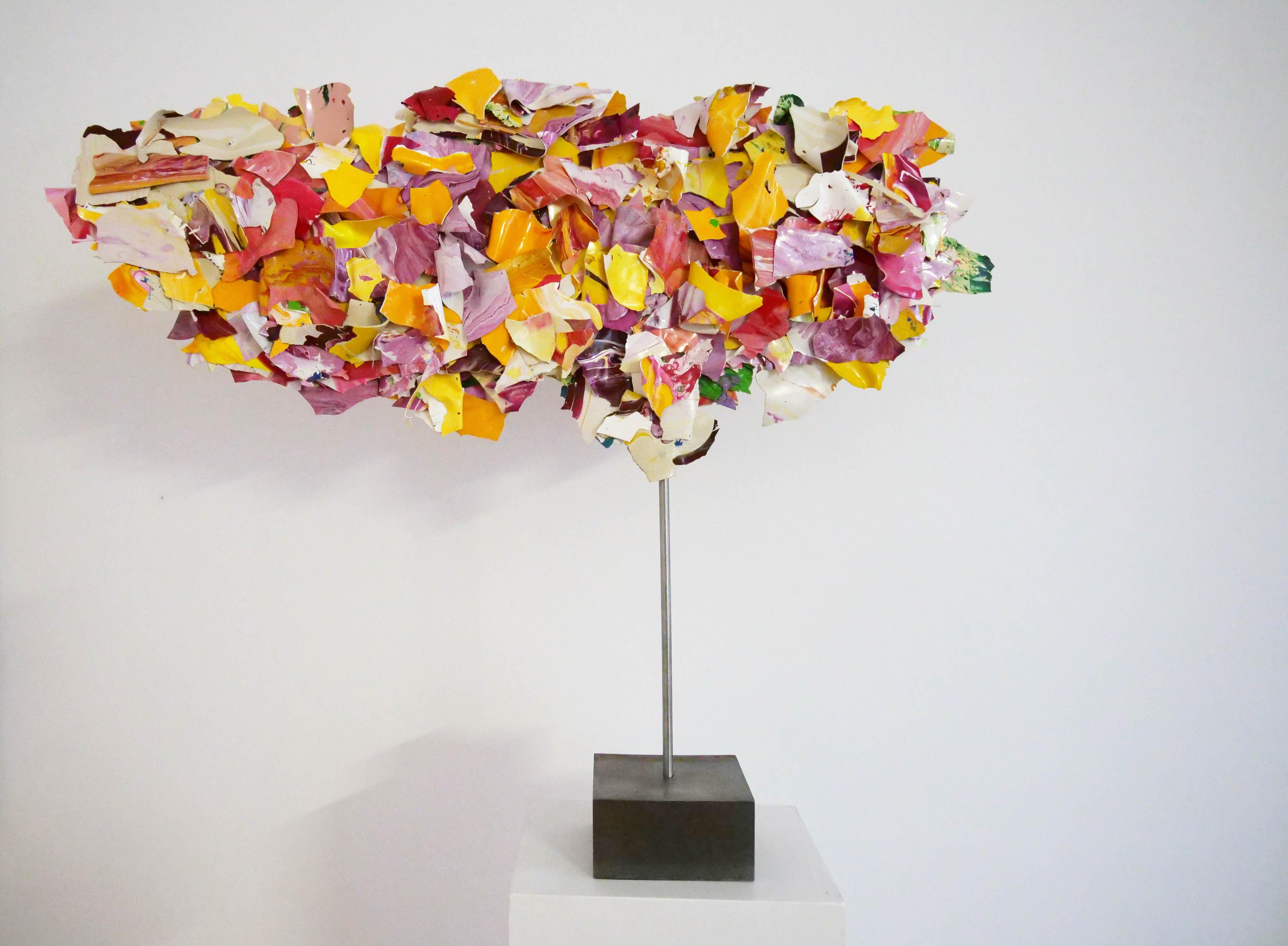 "Ariane Kipp, ""Colorobix"", 2018, Lack und Stahl, 63 cm"