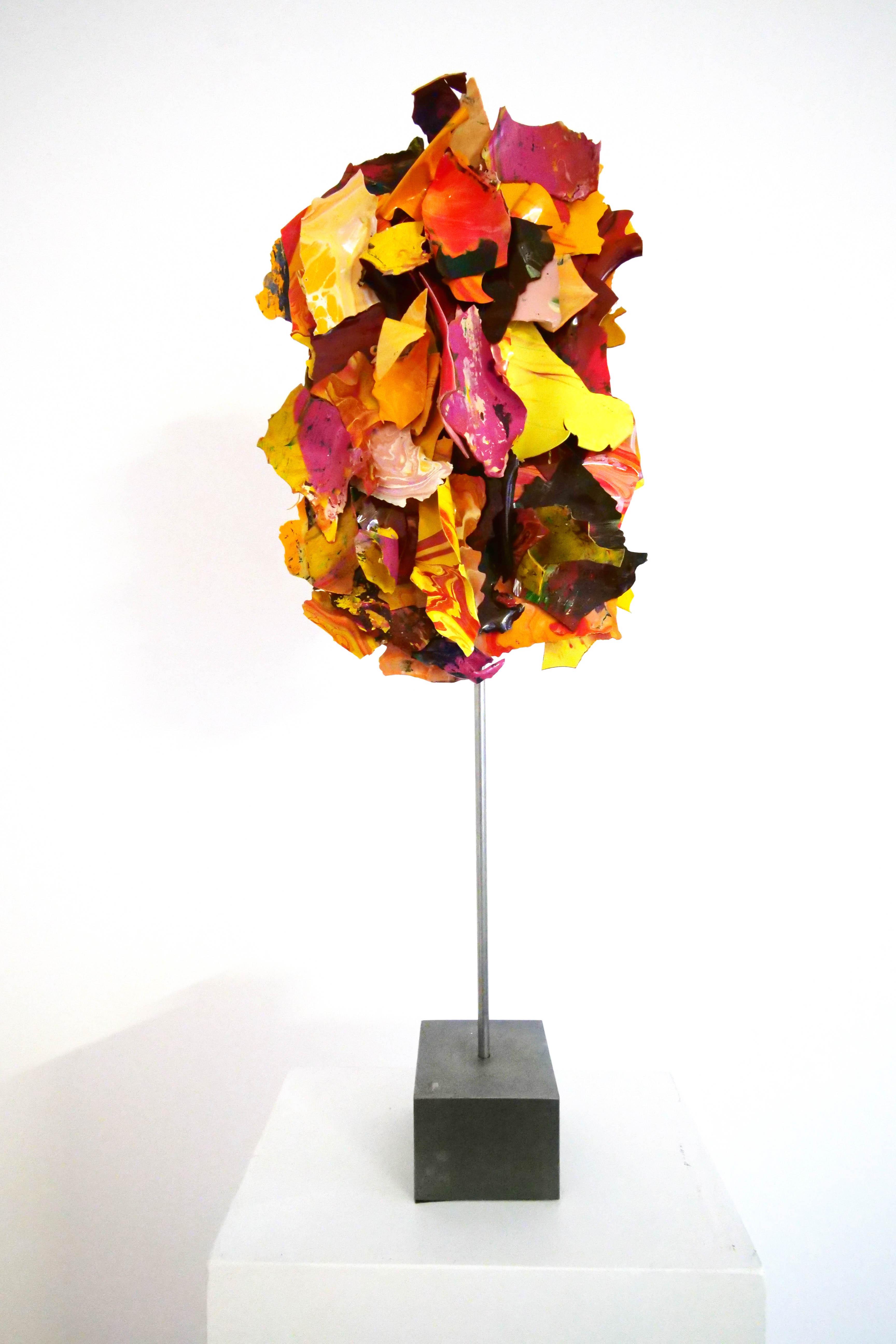 """Ariane Kipp, """"Bäumchen"""", 2018, Lack und Stahl, 54 cm"""