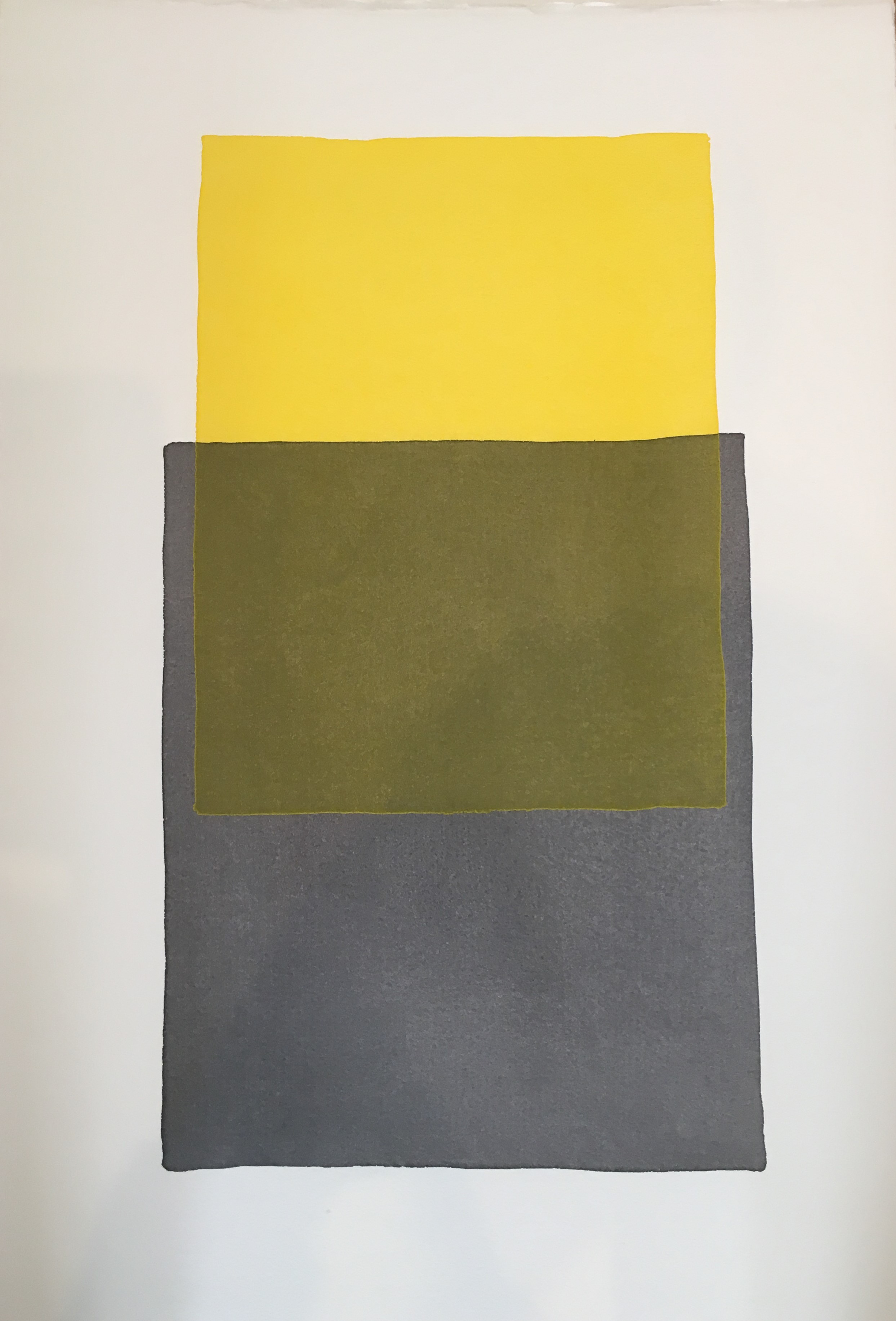 "Werner Maier, ""Farbräume"", 2017, Aquarell auf Büttenpapier, 57 x 38 cm"
