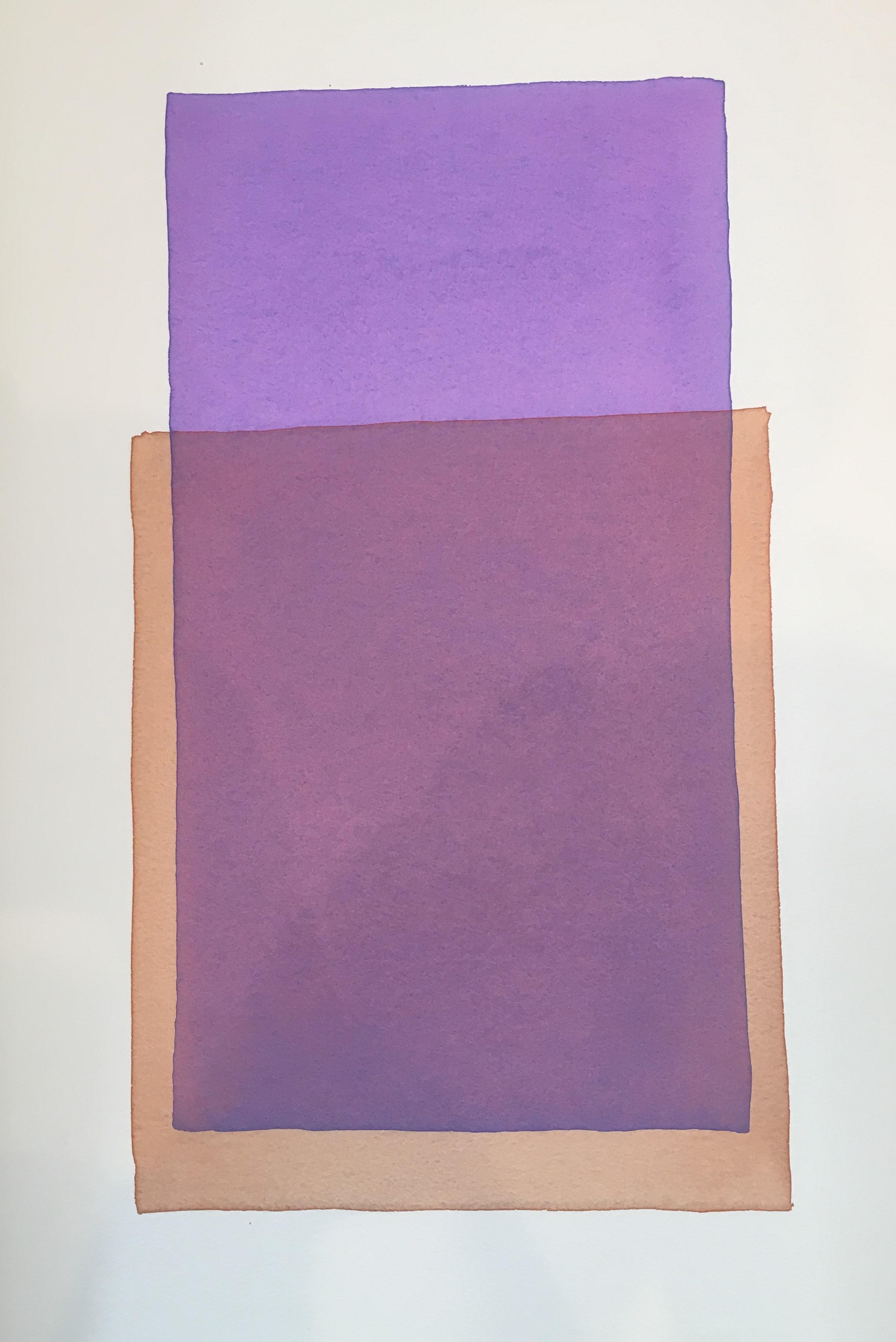 "Werner Maier, ""Farbräume"", 2018, Aquarell auf Büttenpapier, 57 x 38 cm"