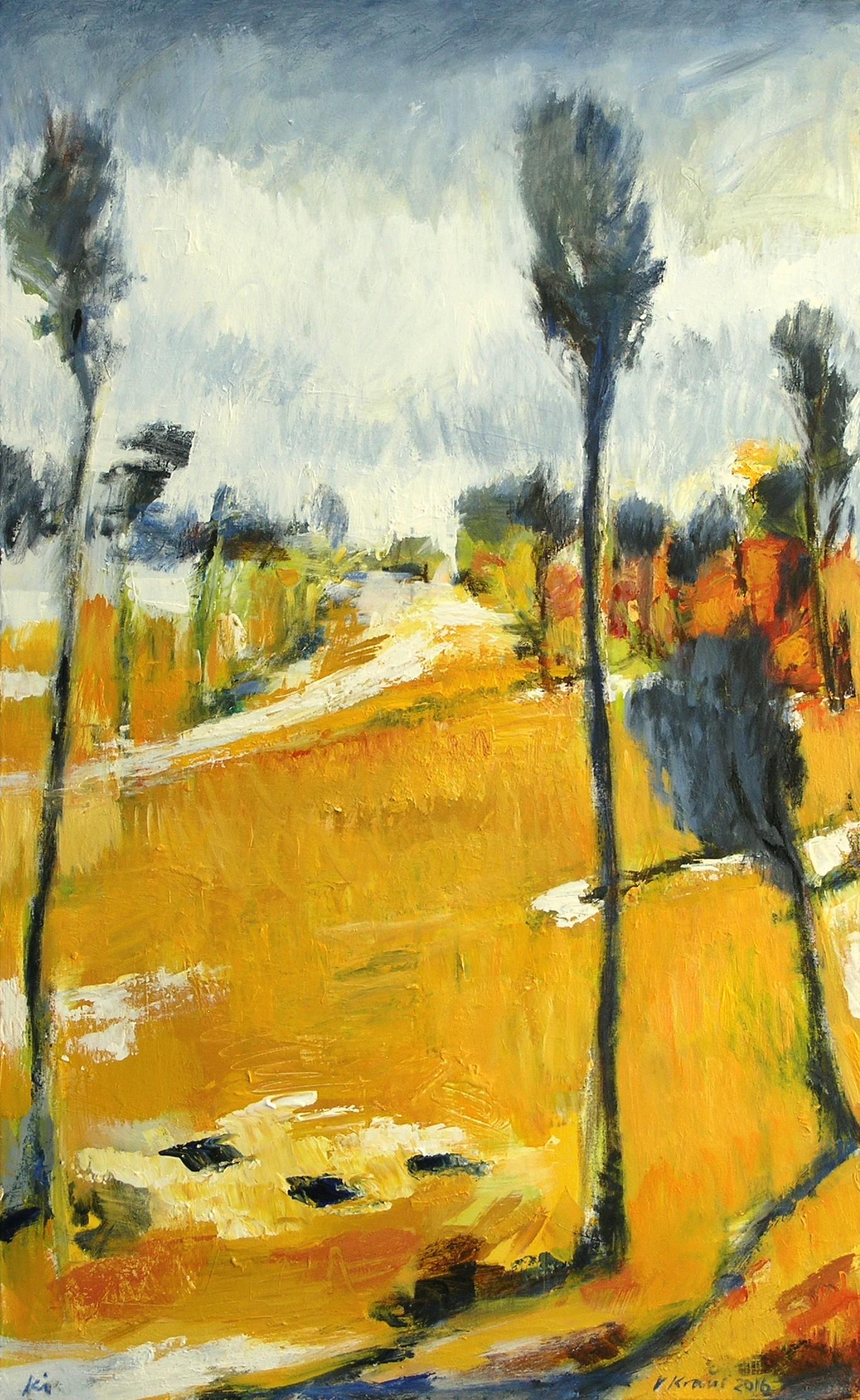 "Victor Kraus, ""Vincent's Way"" ,  2016, Acryl auf Leinwand, 120 x 80 cm"
