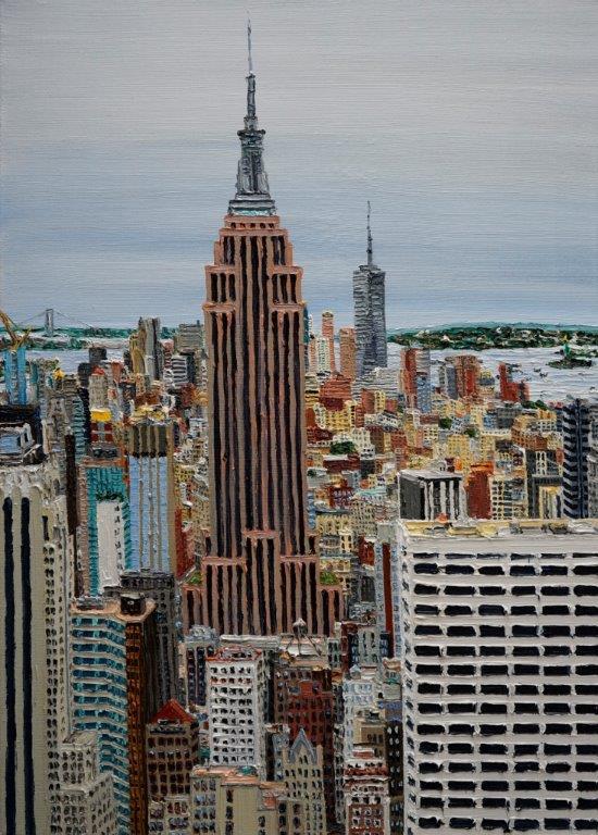 """Katharina Gierlach, """"NYC"""" , 2019, Öl auf Leinwand,  70 x 50 cm"""