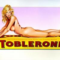 "Mel Ramos, ""Toblerone Tess"""